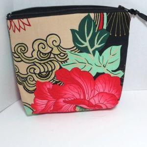 Beautiful Handcrafted Floral Cosmetic Bag